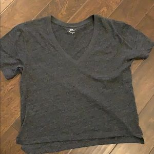 jcrew cropped tee, new without tags